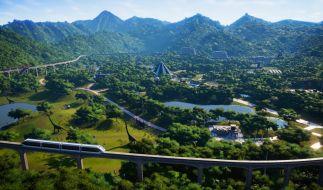 """Mit """"Jurassic World Evolution"""" können Spieler ihre eigene Welt voller Dinosaurier erschaffen. (Foto)"""