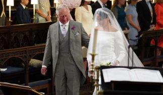 Wie Palast-Insider berichten, hat Herzogin Meghan bereits einen Spitznamen von ihrem Schwiegervater bekommen. Prinz Charles führte sie bei ihrer Hochzeit zum Altar. (Foto)