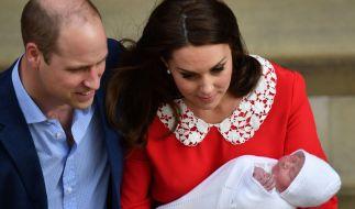 Stolze Eltern: Prinz William und Herzogin Kate mit ihrem kleinen Sohn Louis. (Foto)