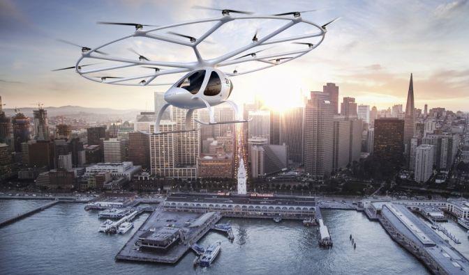 Fliegende Autos in der Zukunft