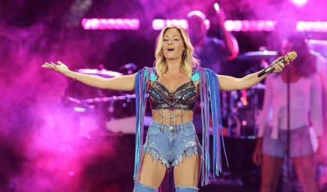 """Mit einer """"Sommerparty in der Leipziger Red Bull Arena hat Schlagerkönigin Helene Fischer ihre Stadiontournee begonnen. (Foto)"""