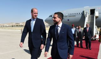 Prinz William weilt derzeit im Nahen Osten und stattete auch Kronprinz Hussein von Jordanien einen Besuch ab. (Foto)