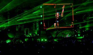 DJ Steve Aoke performt auf einer Bühne des Tomorrowland-Festivals. (Foto)