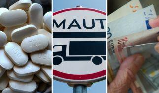 Ab Juli 2018 treten in Deutschland einige neue Gesetze in Kraft - unter anderem zu Warnhinweisen für Schmerzmittel, Lkw-Maut und Rente. (Foto)