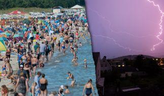 Sommerhitze undstarke Gewitter bestimmen aktuell das Wetter in Deutschland. (Foto)