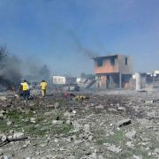 Pyrotechnik-Fabrik fliegt in die Luft - 24 Todesopfer (Foto)