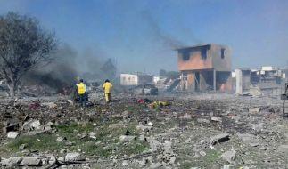 Mehrere Explosionen in einer Feuerwerksfabrik in Mexiko haben mindestens 24 Todesopfer gefordert. (Foto)
