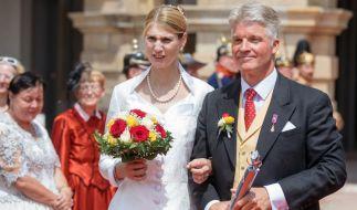 Prinzessin Stephanie und ihr Mann Jan Stahl wollen im kommenden Jahr noch kirchlich heiraten. (Foto)