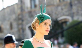 Lady Kitty Spencer verzauberte die Gäste von Prinz Harrys Hochzeit in einem Ensemble von Dolce & Gabbana. (Foto)