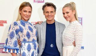 Cheyenne Pahde mit den GZSZ-Schauspieler Wolfgang Bahro und Schwester Valentina Pahde (von links). (Foto)