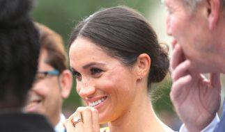 Herzogin Meghan lächelte strahlend bei der Your Commonwealth Youth Challenge. Für viele steht fest: DAS ist Mutterglück! (Foto)