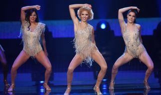 """Taynara Wolf (M) tritt 2016 in München bei der Liveshow """"Deutschland tanzt"""" auf. (Foto)"""