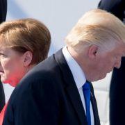 Angela Merkel und Donald Trump werden beim Nato-Gipfel aufeinander treffen.