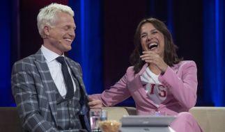"""Bei """"Verstehen Sie Spaß?"""" haben Moderator Guido Cantz (l.) und Schauspielerin Désirée Nosbusch ordentlich was zu lachen. (Foto)"""