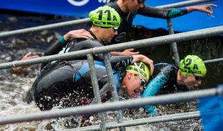 In Hamburg fand an diesem Wochenende der ITU Triathlon 2018 statt. (Foto)