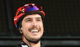 Radsport-Profi John Degenkolb hat auch privat jeden Grund zur Freude. (Foto)