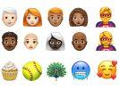 Kahler Mann, weißhaarige Frau und Superheldin kommen mit Hummer und Pfau zur Softball-Party und frieren. Diesen Satz können iOS-Nutzer ab Herbst auch komplett als Emoji-Zeichenfolge schreiben. (Foto)