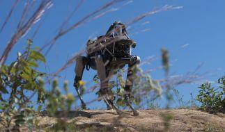 """Der vierbeinige Roboter """"Spot"""" wurde schon 2015 auf einer Basis der Marine Corps in den USA getestet. (Foto)"""