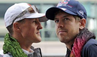 Schumi ist Vettels großer Ansporn. (Foto)