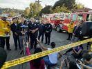 Eric Garcetti, Bürgermeister von Los Angeles, bei einer Pressekonferenz. Ein Gewalttäter hat sich in Los Angeles stundenlang mit Geiseln in einem Supermarkt verschanzt und eine Frau erschossen. (Foto)