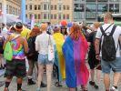 Leipzig erstrahlt zur CSD-Parade 2018 in kunterbunt. (Foto)