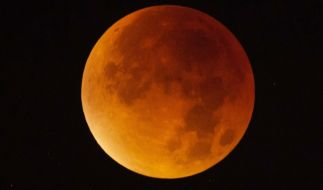 In der Nacht zum Samstag verfärbt sich der Mond Blutrot. (Foto)