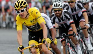 Der Brite Geraint Thomas holte sich den Gesamtsieg der 105. Tour de France. (Foto)