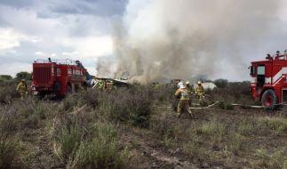 Bei einem Flugzeugabsturz in Mexiko gab es zum Glück keine Toten. (Foto)