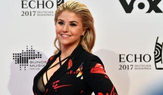 Bei der Echo-Verleihung 2017 präsentierte Beatrice Egli ihr sexy Dekolleté. (Foto)