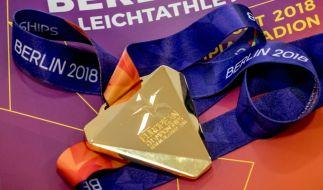 Die Leichtathletik EM in Berlin gehört zur European Championships 2018. Diese Medaillen werden die Gewinner der verschiedenen Disziplinen erhalten. (Foto)