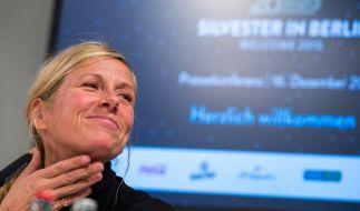 Andrea Kiewel bei einer Pressekonferenz (Foto)