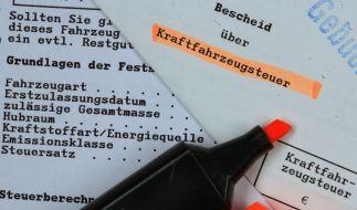 Die Kfz-Steuer steigt ab 1. September 2018. (Foto)