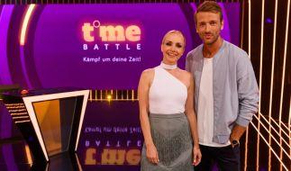 """Janin Ullman und Christian Düren moderieren die neue Show """"Time Battle - Kämpf um deine Zeit!"""" bei Pro Sieben. (Foto)"""