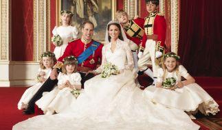 Prinz William und Herzogin Kate kurz nach ihrer Hochzeit im Jahr 2011. (Foto)