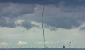 Ein Tornado an der Ostseeküste. (Foto)