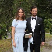 Carl Philip, Prinz von Schweden, und seine Frau Sofia kommen zur Hochzeit von Konstantin von Bayern und Deniz Kaya.