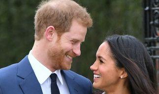 Glücklich verliebt: Prinz Harry und die ehemalige Schauspielerin Meghan Markle. (Foto)