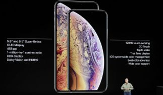 Phil Schiller, Senior Vice President of Worldwide Marketing von Apple, spricht über das Apple iPhone XS und das Apple iPhone XS Max. (Foto)