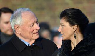 Seit 2014 ist Oskar Lafontaine mit Sahra Wagenknecht verheiratet. (Foto)