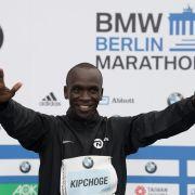 Kenianer Eliud Kipchoge läuft Weltrekord (Foto)
