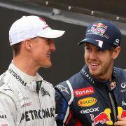 Michael Schumacher und Sebastian Vettel (r.) verbindet eine lange Freundschaft. (Foto)