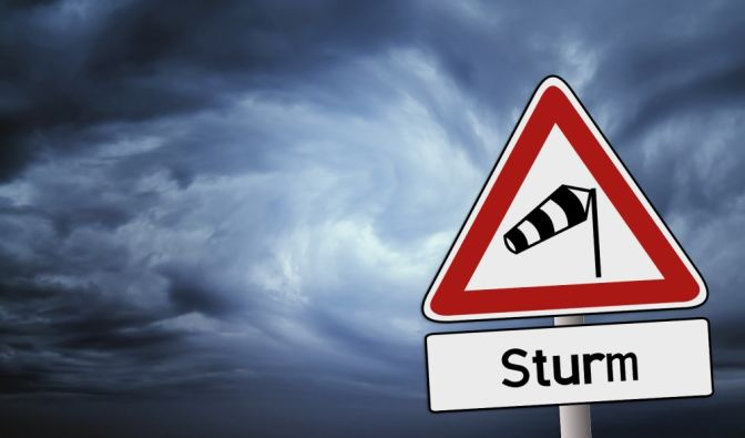Unwetter-Warnung im September 2018