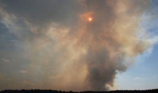 Seit zwei Wochen brennt ein Moor bei Meppen. (Foto)