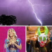 Warnung vor Sturm und Unwetter! // Schlager-Stars: Baby-News und oben ohne // Killer-Clowns sind zurück! (Foto)