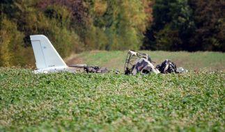 Bei einem Flugzeugabsturz bei Alkersleben (Ilm-Kreis) sind am Mittwoch nach bisherigen Erkenntnissen zwei Menschen ums Leben gekommen. (Foto)