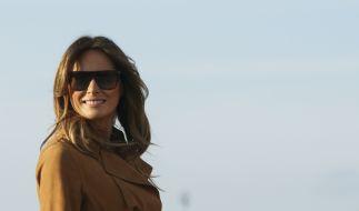Melania Trump vor dem Abflug nach Afrika. Sie wirkt glücklich wie lange nicht mehr. (Foto)