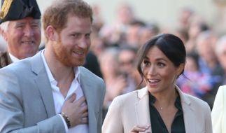 Herzogin Meghan und Prinz Harry in Sussex. (Foto)
