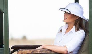 Melania Trump, First Lady der USA, nimmt an einer Safari im Nairobi Nationalpark teil. (Foto)