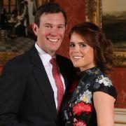 Prinzessin Eugenie und Jack Brooksbank nach der Bekanntgabe ihrer Verlobung.