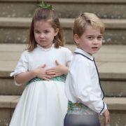 Prinzessin Charlotte und Prinz George, die Kinder von Kate und William, sind als Blumenkinder mit von der Partie.